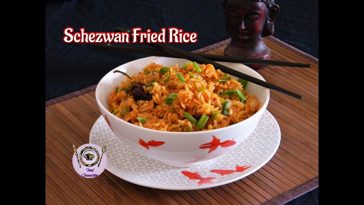 Schezwan fried rice chinese fried rice recipe in hindi schezwan fried rice chinese fried rice recipe in hindi by food connection ccuart Images