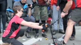 cutting Kryptonite U-lock Evolution 4 LS - Święto Cykliczne - Warszawski Wielki Przejazd