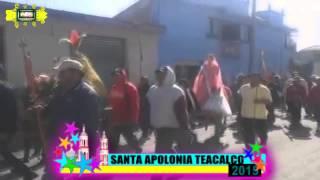 Procesión Santa Apolonia Teacalco 2015