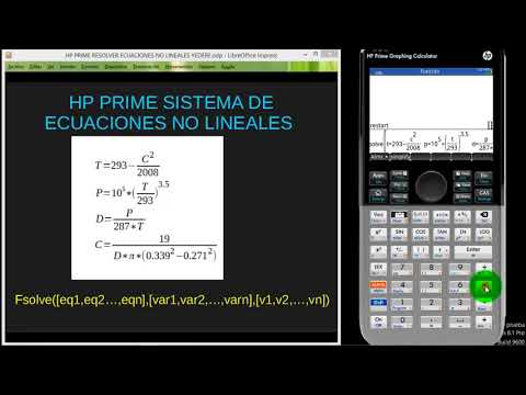 HP PRIME SISTEMA ECUACIONES NO LINEALES