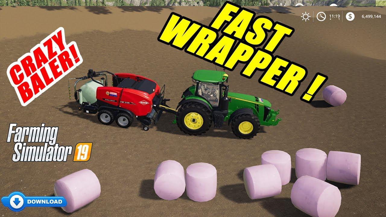 Fs19 Fast Bale Wrapper