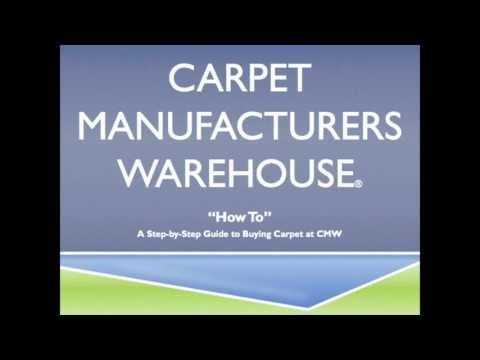 How To Purchase Carpet at Carpet Warehouse - YouTube