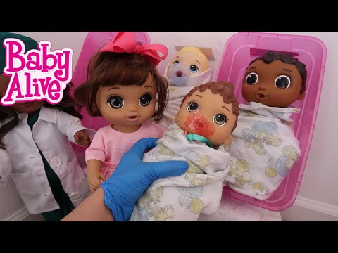BABY ALIVE New baby is Born Lunas baby Sister