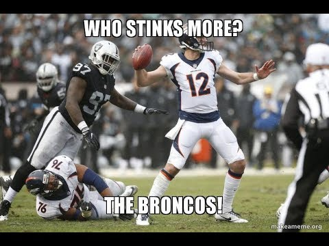 Broncos vs Raiders: 10 Notes and Observations. Raiders stink less!
