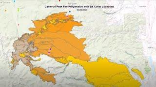 Cameron Peak Fire Progression Map With Elk Movements
