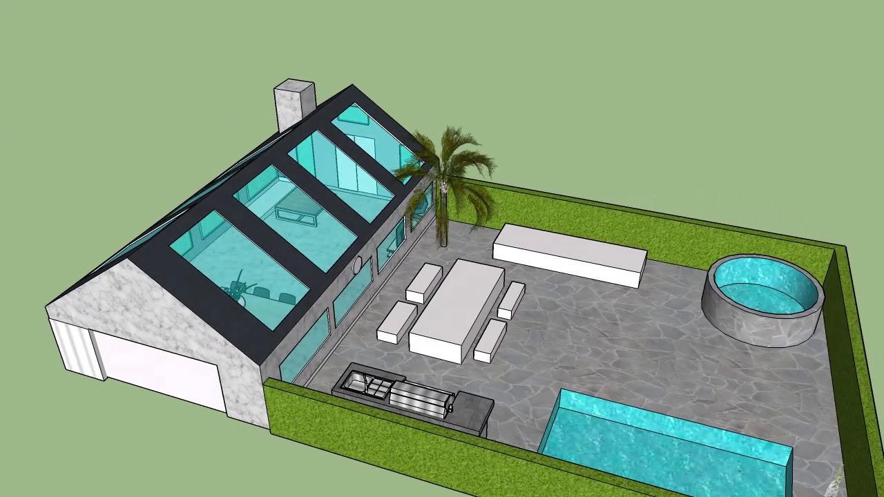 Sketchup huis ontwerpen youtube for Huis ontwerpen
