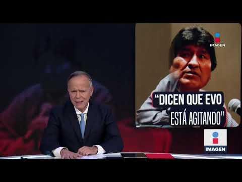 Difunden audios de Evo Morales donde llama a bloquear ciudades | Noticias con Ciro Gómez Leyva