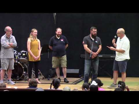 Bill Roberts introduces this year's guests @ EMI Music Camp, Saturday June 23, 2018