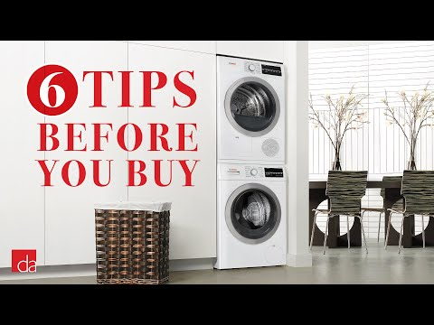 Stackable Washer Dryer - 6 Tips Before You Buy