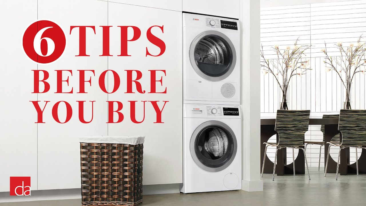 Stackable Washer Dryer 6 Tips Before You Buy Youtube