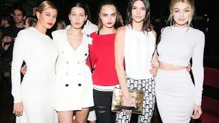 Kendal Jenner, Kylie Jenner, Cara delevigne, Gigi hadid and Hailey -together♥
