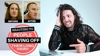 ✅ Hair Growth Inspiration - Reacting to People Shaving Their Long Hair Off