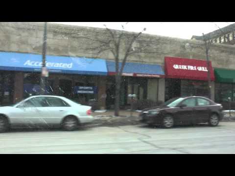 driving around Evanston, Illinois March 2014