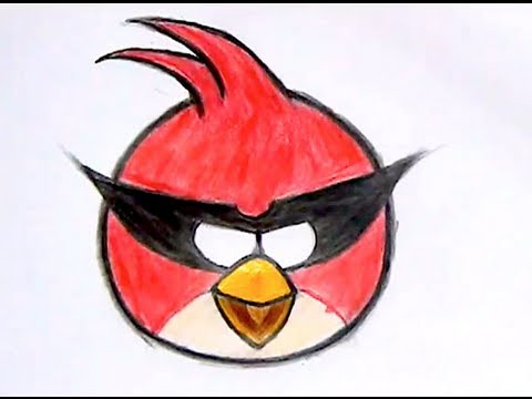 How I Draw Big Red Bird Angry Birds Space 1 Reup