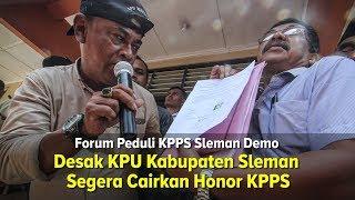 Desak KPU Kabupaten Sleman Cairkan Honor KPPS
