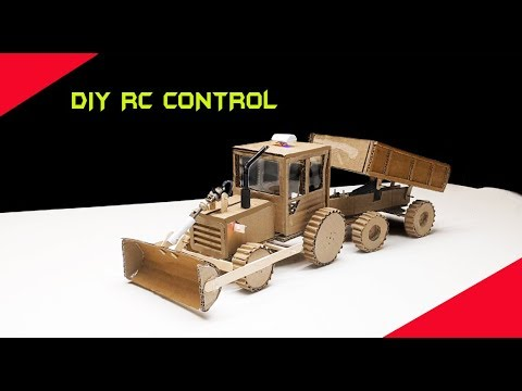 Diy RC Control Dump Truck With Bulldozer Made With Cardboard /Make  J C B With Dump Truck  Tractor