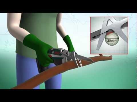 Fabelhaft Bosch Akku-Gartensäge: leicht, handlich und leistungsstark! - YouTube &AN_72