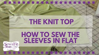 How to Sew a Sleeve in a Knit Top and T-Shirt