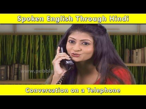 Telephone Conversation   Spoken English Through Hindi   Learn English In Hindi For Beginners