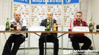 Pressekonferenz 1. FC Magdeburg - RB Leipzig 0:0 (0:3) - 11.03.2012 - www.sportfotos-md.de