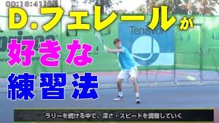 Dフェレールが好きな練習法 スペインテニス