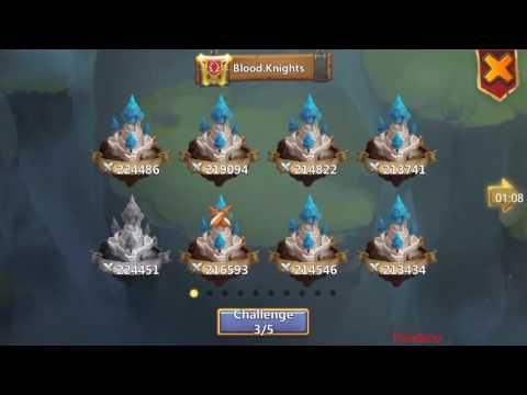 Castle Clash - Extremely hard guild war base! Against #1 Blood Knights!