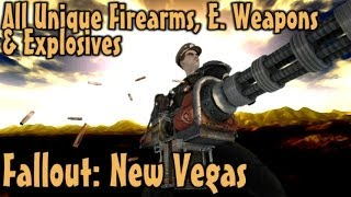Fallout New Vegas - Unique Guns, Energy Weapons Explosives Guide Vanilla