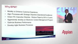 William flowers, vp of it services, dallas/fort worth international airport, discusses why dfw selected appian to eliminate paper, utilize enterprise mobilit...