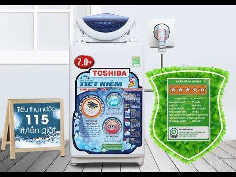 Mở Hộp Máy Giặt Toshiba 7 kg AW A800SV WB – Open Box Washing Machine Toshiba