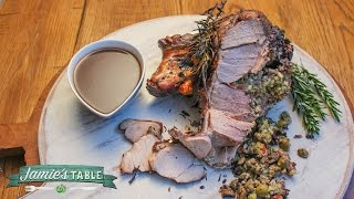 Stuffed Leg Of Lamb Recipe With Rosemary And Pine Nuts - Jamie's Table