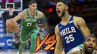Jayson Tatum VS Ben Simmons HEATED ROOKIE BATTLE in London! Celtics vs 76ers!