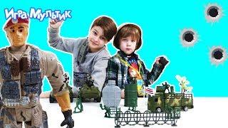 Распаковка военного набора - REAL HEROES Special Forces - Игра Мультик