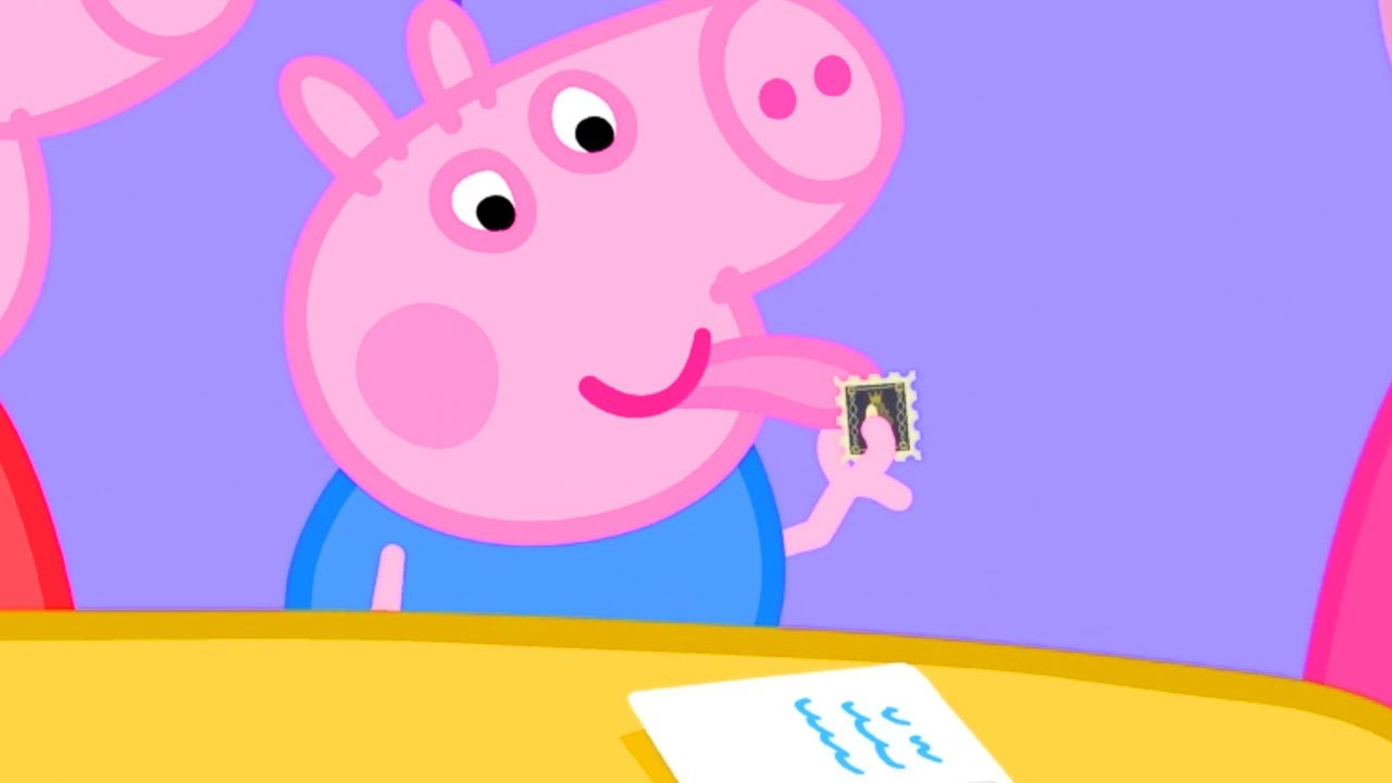 Peppa Pig Official Channel   George Pig Uses Grandpa Pig's Rare Stamp Collection - YouTube