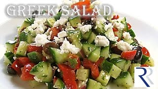 How to make Greek Salad | Mediterranean salad | Lebanese menu | RinkusRasoi