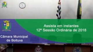 12ª Sessão Ordinária de 2018