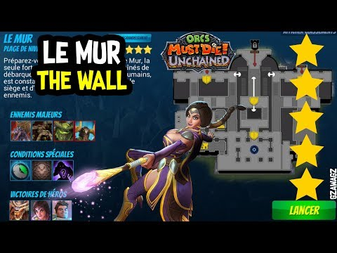 New Account WAR MAGE 5 THE WALL Le mur GABRIELLA Orcs Must Die Unchained