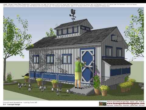 L310 - Chicken Coop Plans Construction - Chicken Coop Design - How To Build A Chicken Coop