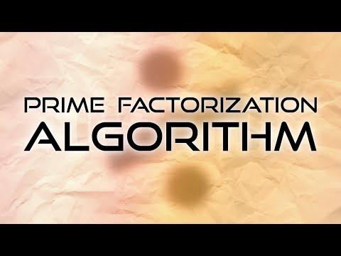 Prime Factorization Algorithm!
