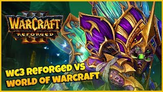 Warcraft 3 Reforged VS World of Warcraft Comparison   Undead Hero Comparison