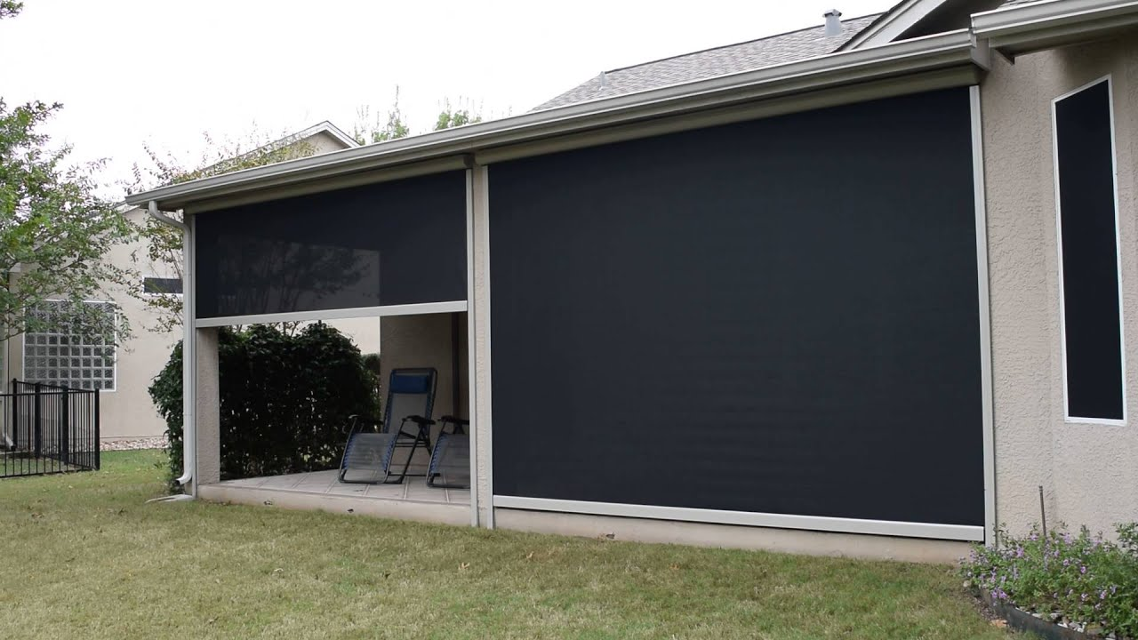 Motorized Exterior Shades - Austin, TX - YouTube