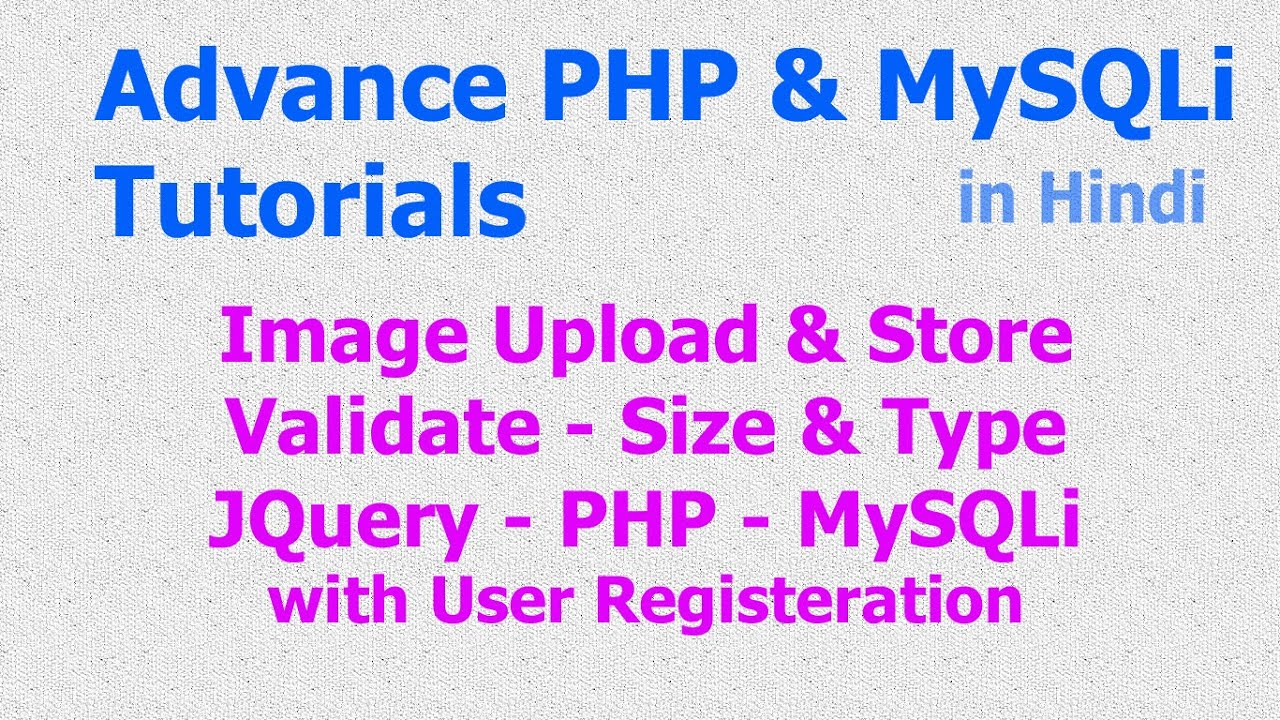 Validating file uploads php tutorial