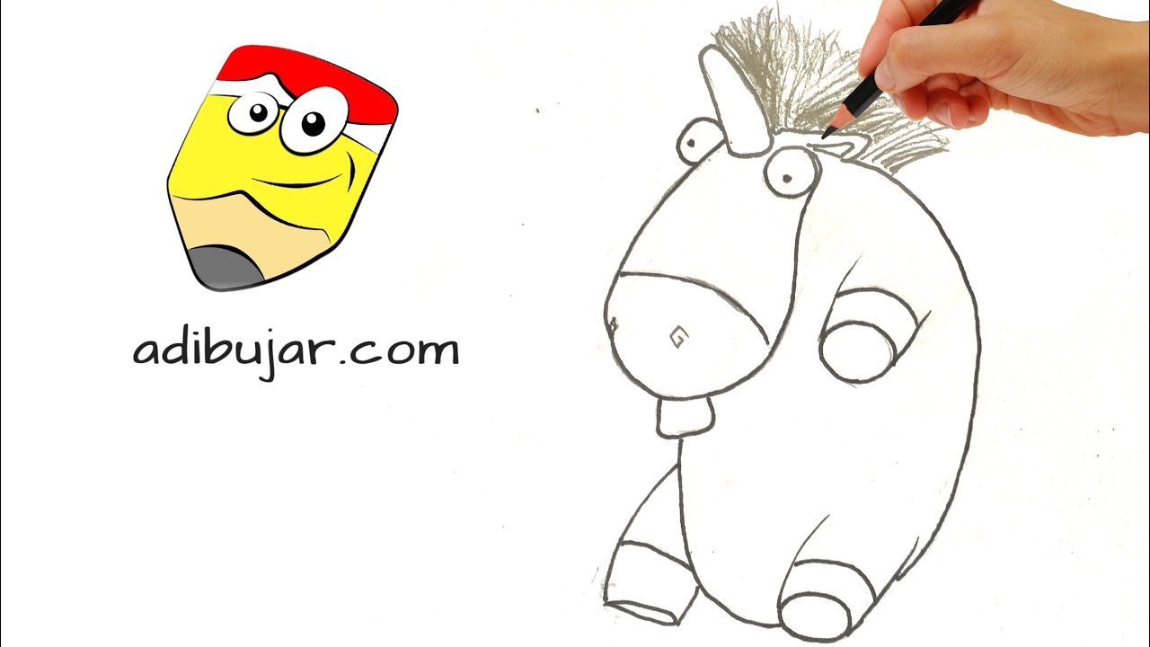 Despicable me 3 How to draw Agnes unicorn step by step  Easy