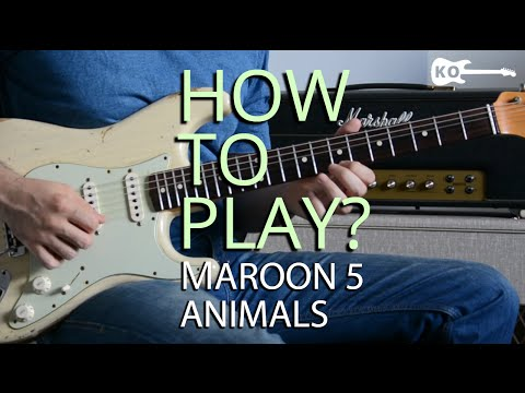 how to play animals by maroon 5 on electric guitar guitar lesson tutorial youtube. Black Bedroom Furniture Sets. Home Design Ideas