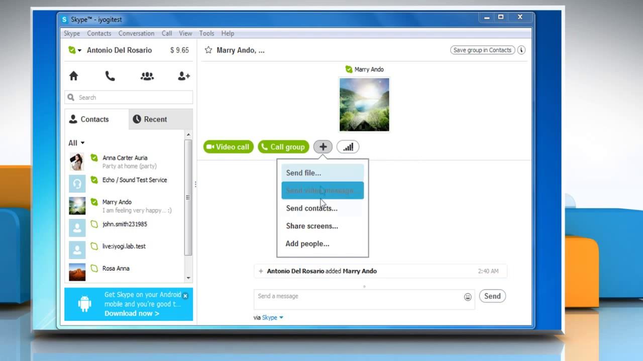 how to make group video call on skype ipad