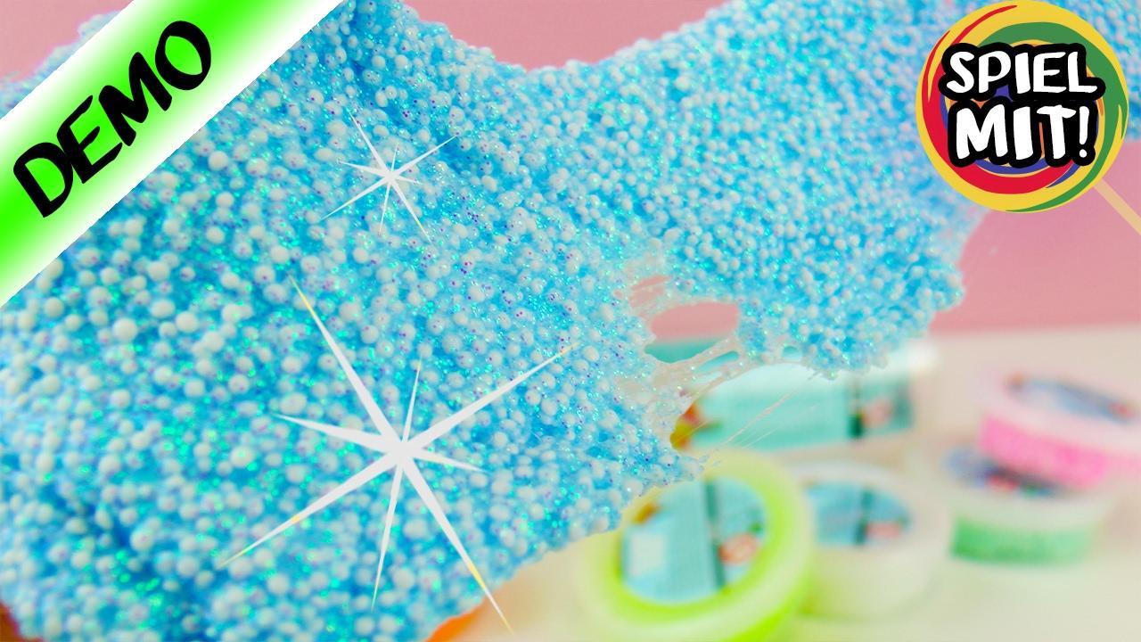 glitzer foam clay funkelnder wolkenschleim mit glitter zum basteln modellieren youtube. Black Bedroom Furniture Sets. Home Design Ideas