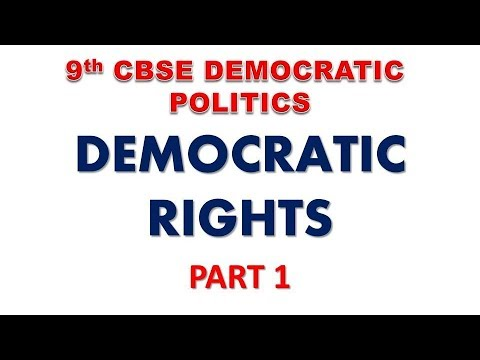 Democratic Rights (Part 1) - Class 9 Civics Chapter 6 in Hindi | CBSE Class 9 | NCERT