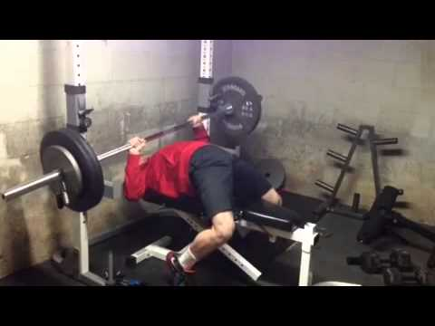 Bench press 275(bad form) - YouTube