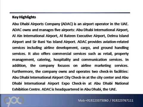 Abu Dhabi Airports Company Profile and SWOT Analysis