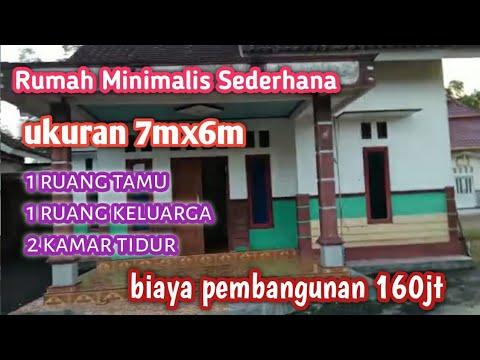 rumah minimalis sederhana di desa||rumah ukuran 7mx6m