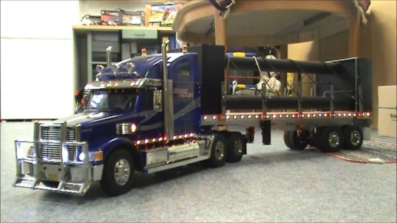 tamiya knight hauler rc truck 1/14 - YouTube